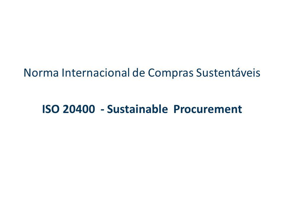 ISO 20400 - Sustainable Procurement