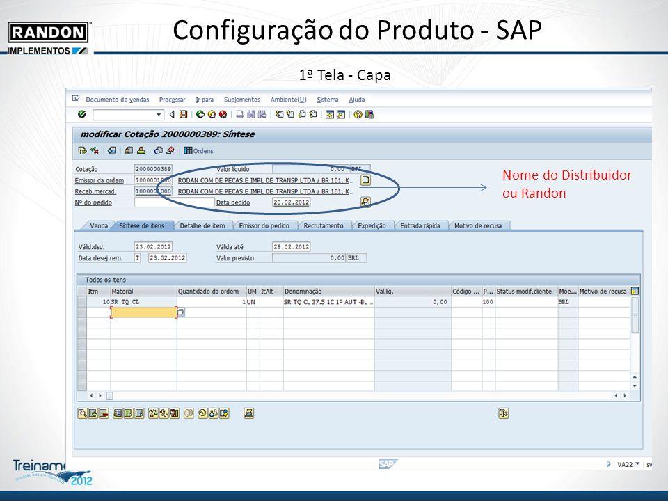 Configuração do Produto - SAP