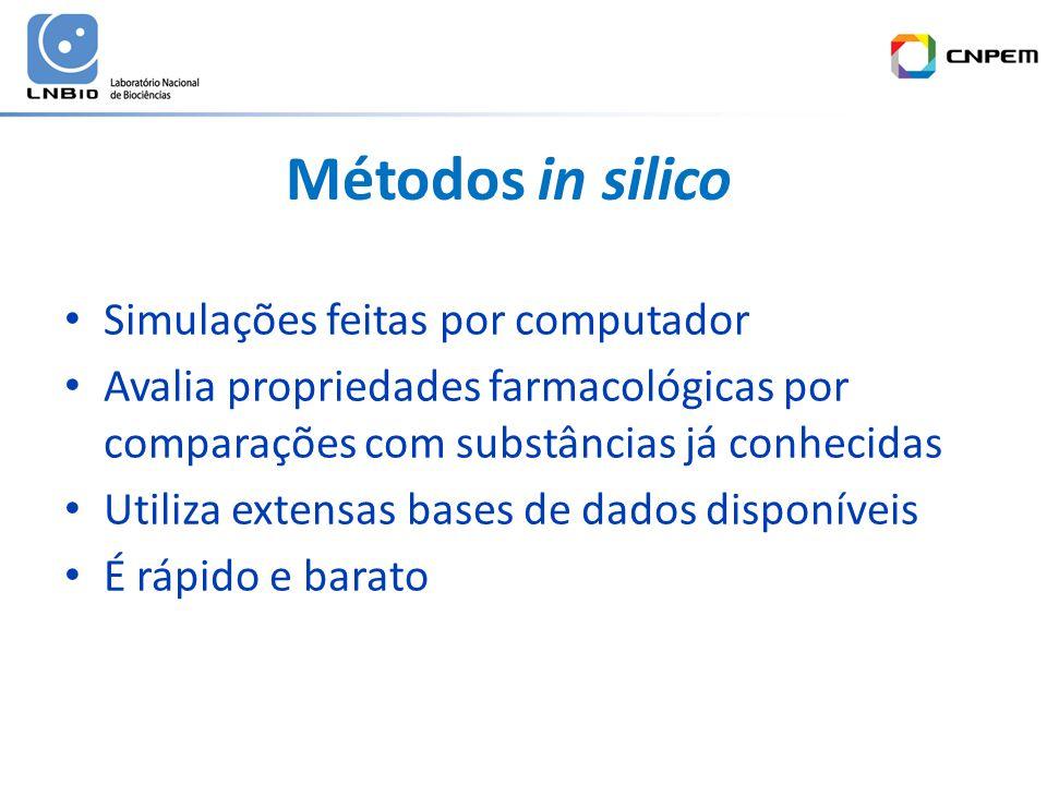 Métodos in silico Simulações feitas por computador
