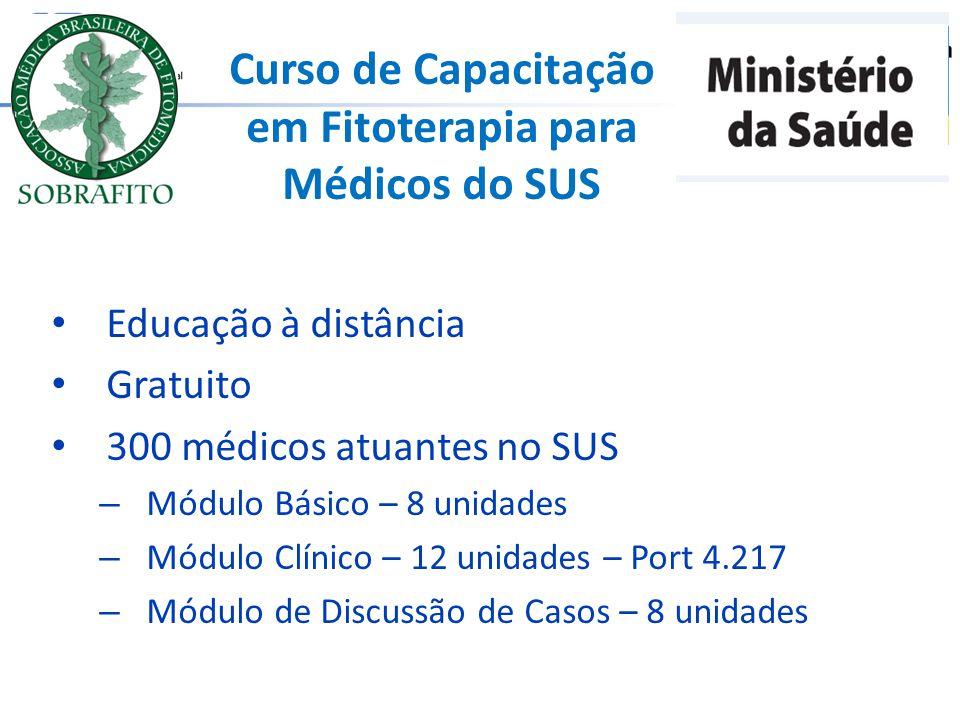Curso de Capacitação em Fitoterapia para Médicos do SUS