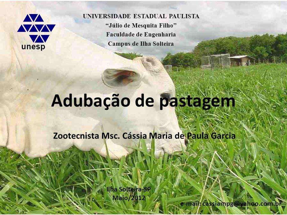 Zootecnista Msc. Cássia Maria de Paula Garcia