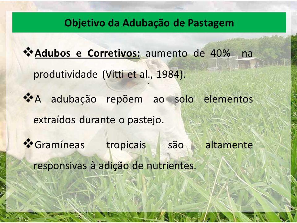Objetivo da Adubação de Pastagem