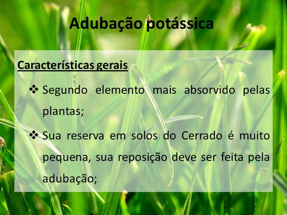 Adubação potássica Características gerais