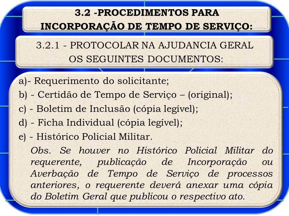 INCORPORAÇÃO DE TEMPO DE SERVIÇO: