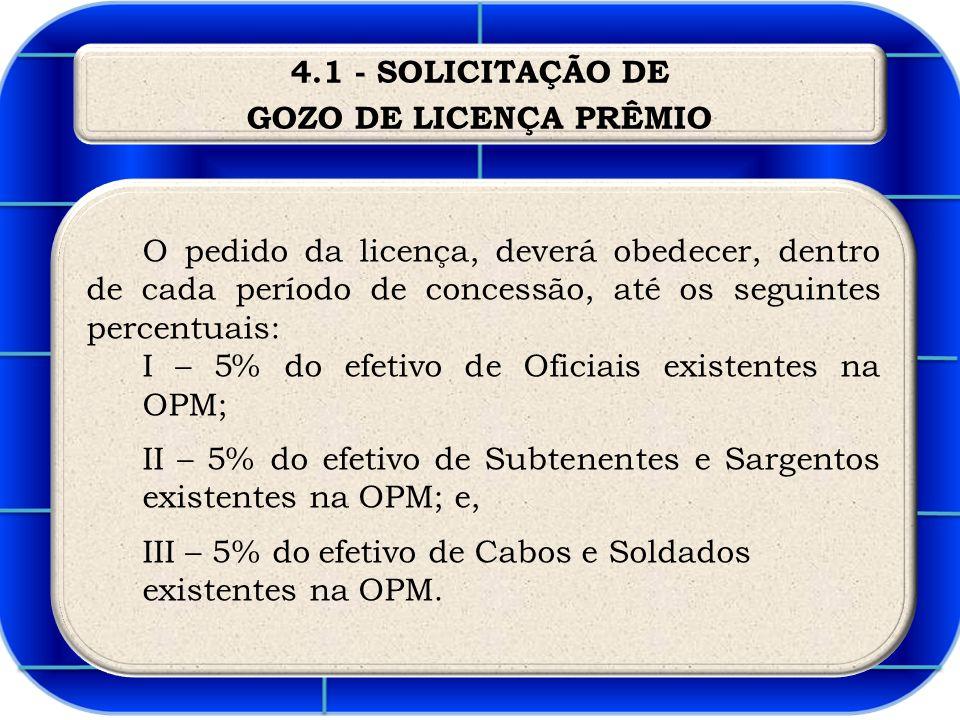 4.1 - SOLICITAÇÃO DE GOZO DE LICENÇA PRÊMIO.