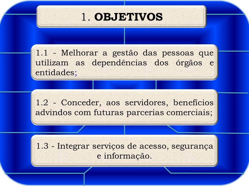 1.3 - Integrar serviços de acesso, segurança e informação.