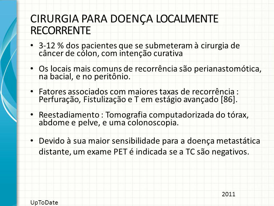 CIRURGIA PARA DOENÇA LOCALMENTE RECORRENTE