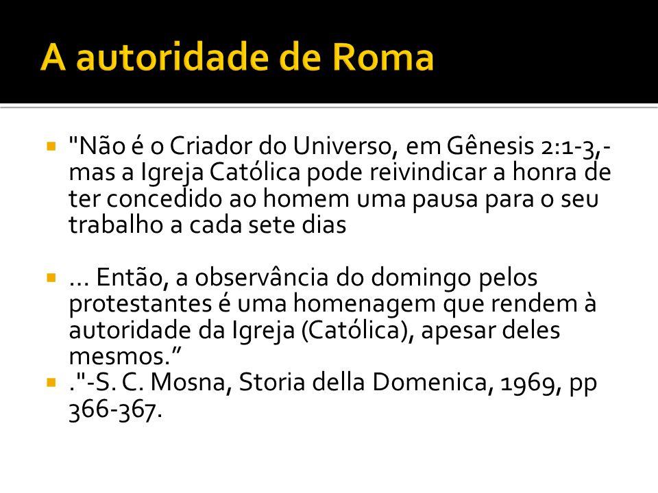 A autoridade de Roma