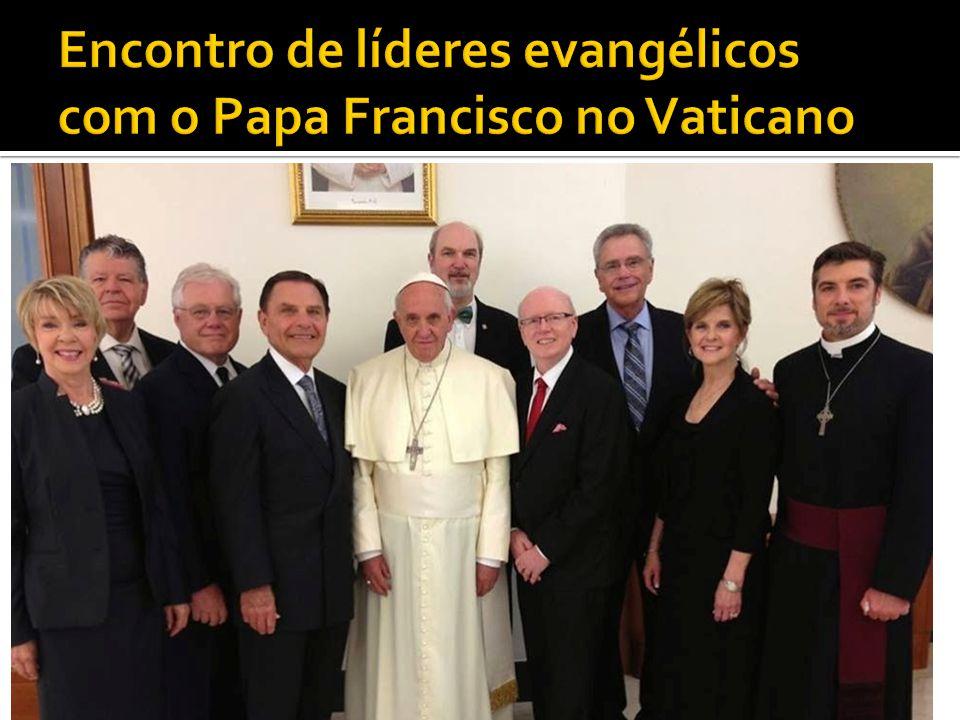 Encontro de líderes evangélicos com o Papa Francisco no Vaticano
