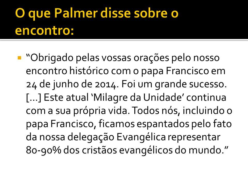 O que Palmer disse sobre o encontro: