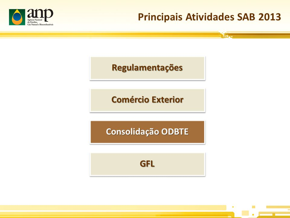 Principais Atividades SAB 2013
