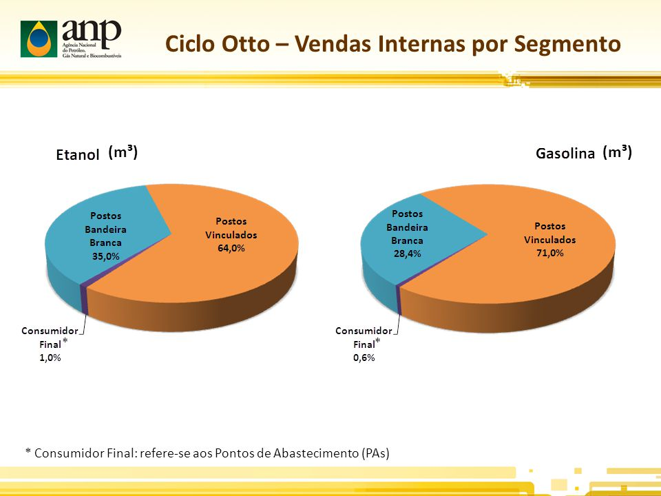 Ciclo Otto – Vendas Internas por Segmento