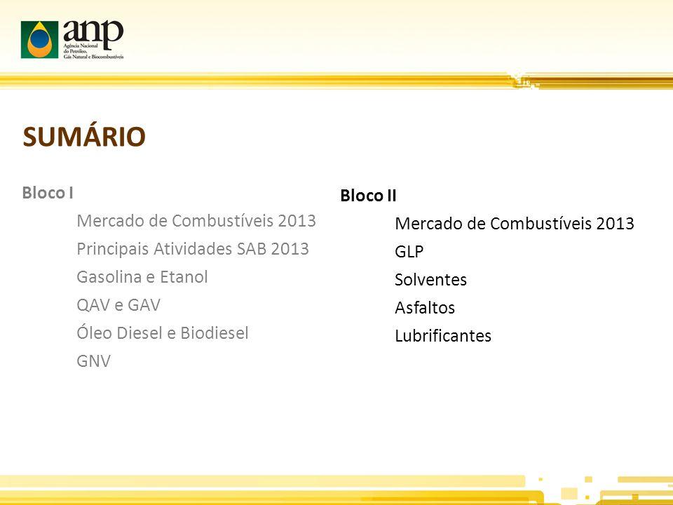 SUMÁRIO Bloco I Bloco II Mercado de Combustíveis 2013