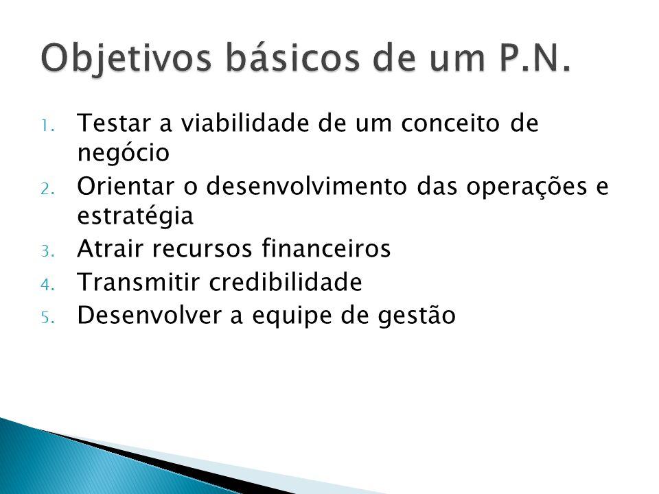 Objetivos básicos de um P.N.
