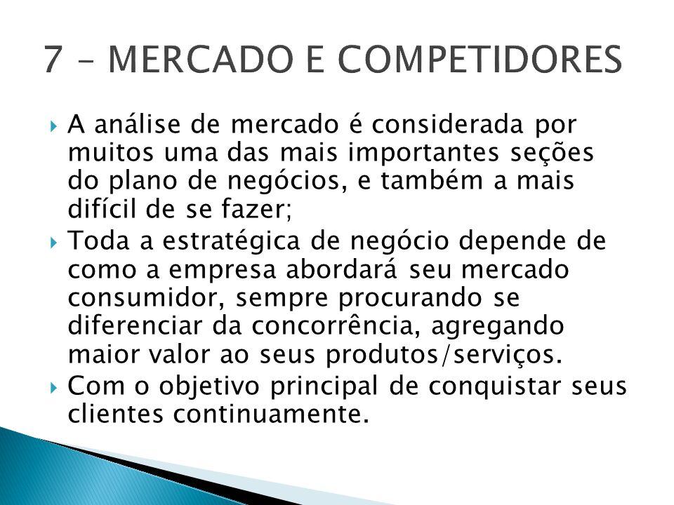 7 – MERCADO E COMPETIDORES