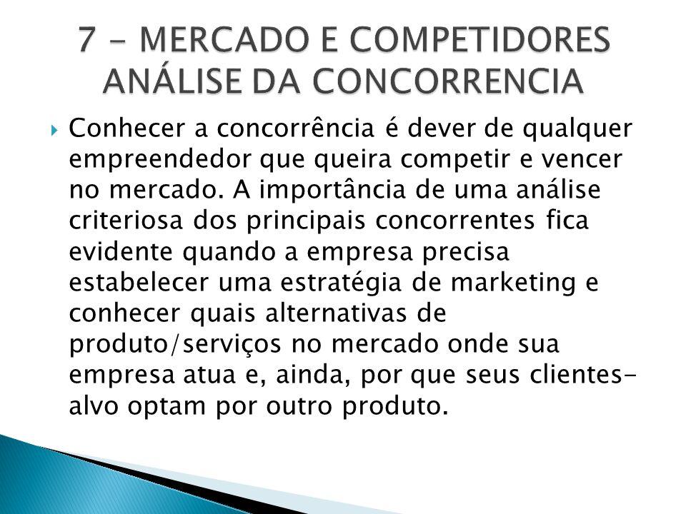 7 - MERCADO E COMPETIDORES ANÁLISE DA CONCORRENCIA