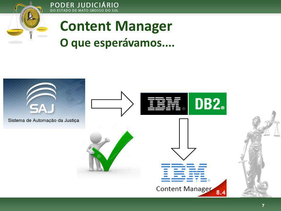 Content Manager O que esperávamos....