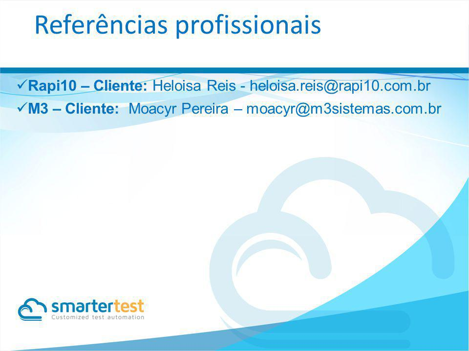Referências profissionais