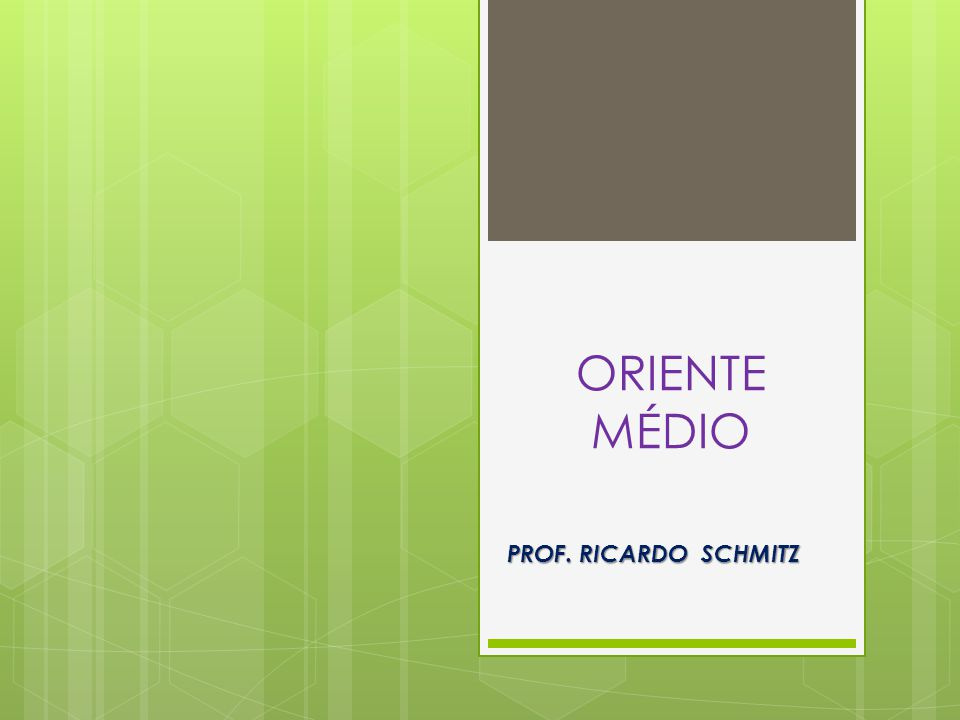 ORIENTE MÉDIO PROF. RICARDO SCHMITZ