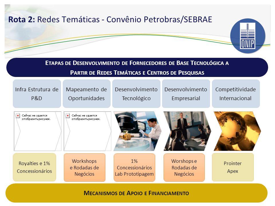 Rota 2: Redes Temáticas - Convênio Petrobras/SEBRAE