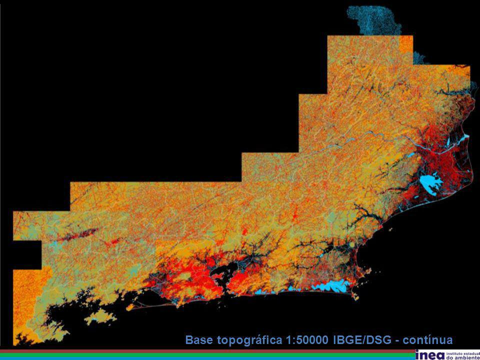 Base topográfica 1:50000 IBGE/DSG - contínua