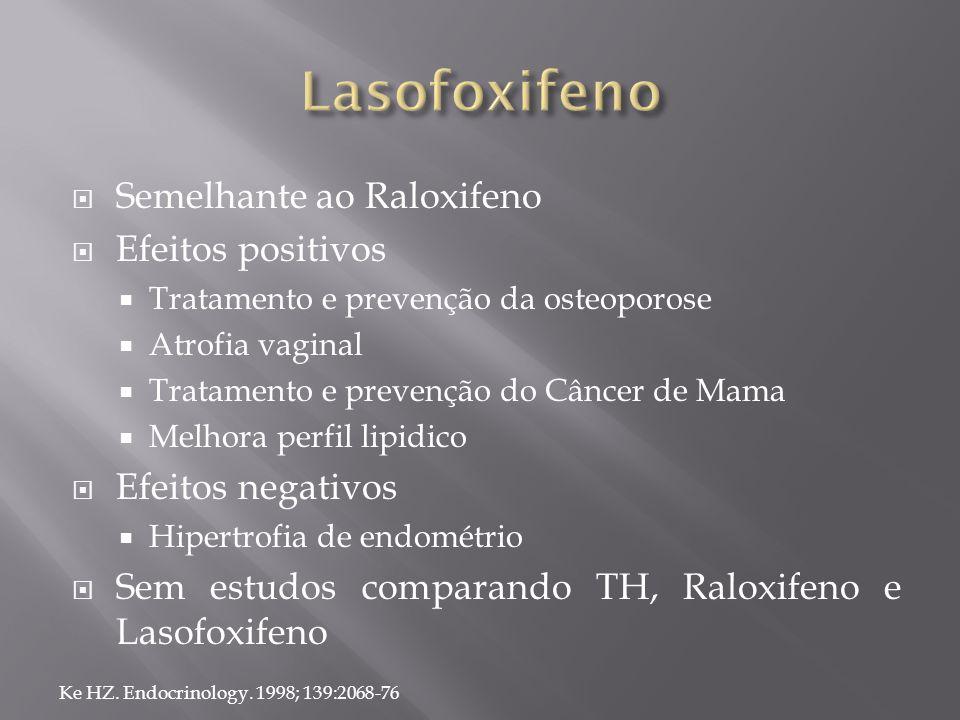Lasofoxifeno Semelhante ao Raloxifeno Efeitos positivos