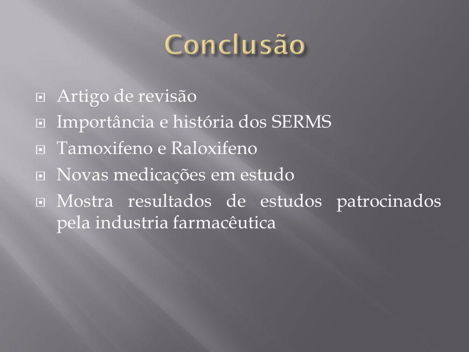 Conclusão Artigo de revisão Importância e história dos SERMS