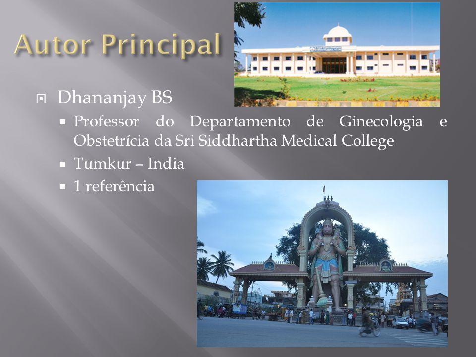 Autor Principal Dhananjay BS