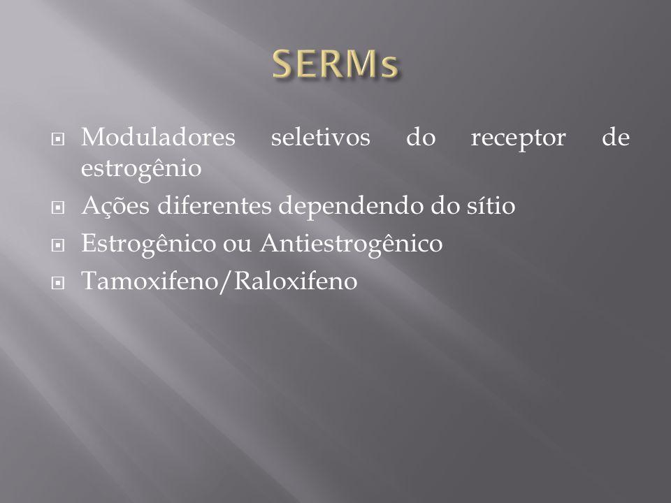 SERMs Moduladores seletivos do receptor de estrogênio