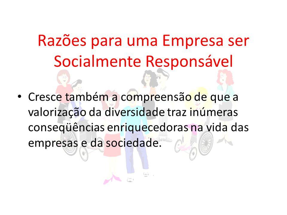 Razões para uma Empresa ser Socialmente Responsável