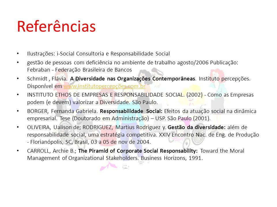Referências Ilustrações: i-Social Consultoria e Responsabilidade Social.