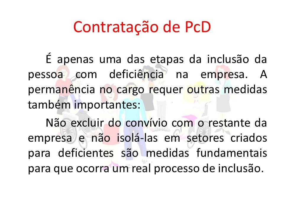 Contratação de PcD