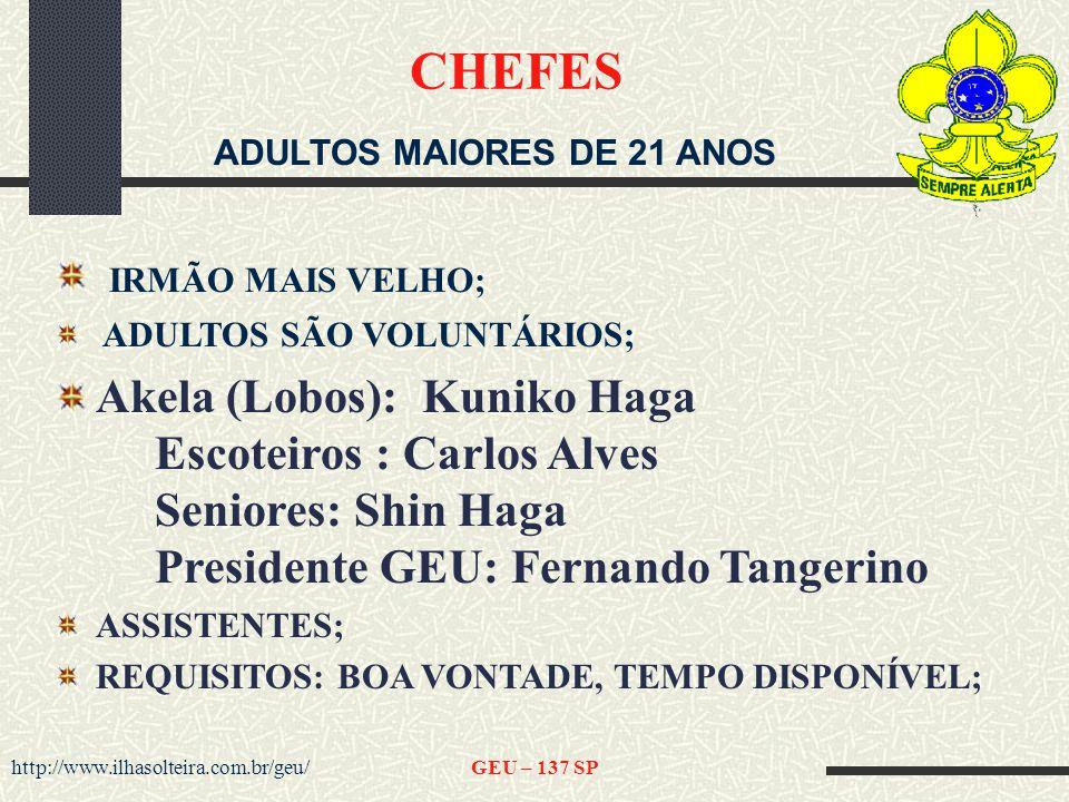 ADULTOS MAIORES DE 21 ANOS