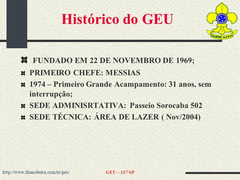Histórico do GEU FUNDADO EM 22 DE NOVEMBRO DE 1969;