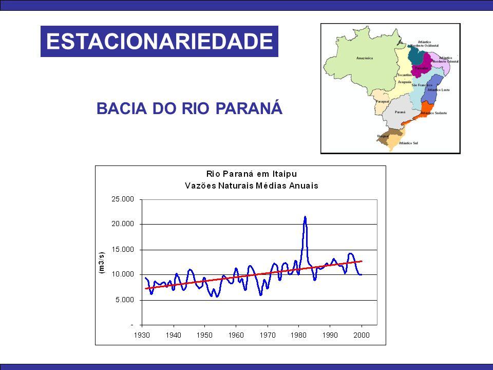 ESTACIONARIEDADE BACIA DO RIO PARANÁ