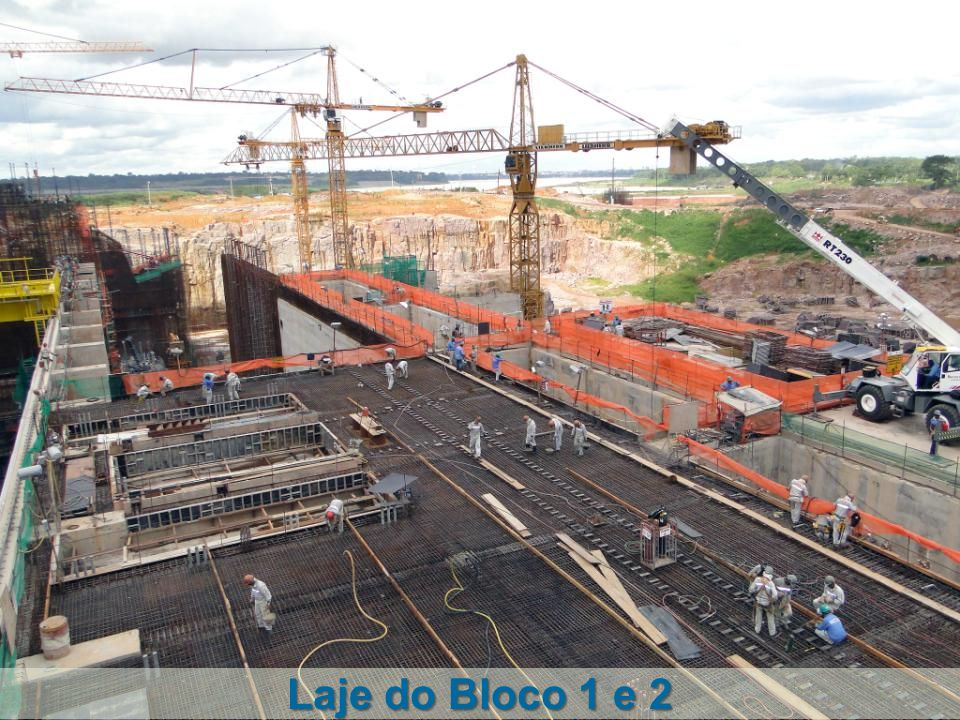 Laje do Bloco 1 e 2