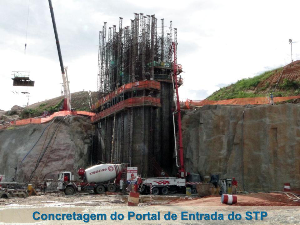 Concretagem do Portal de Entrada do STP