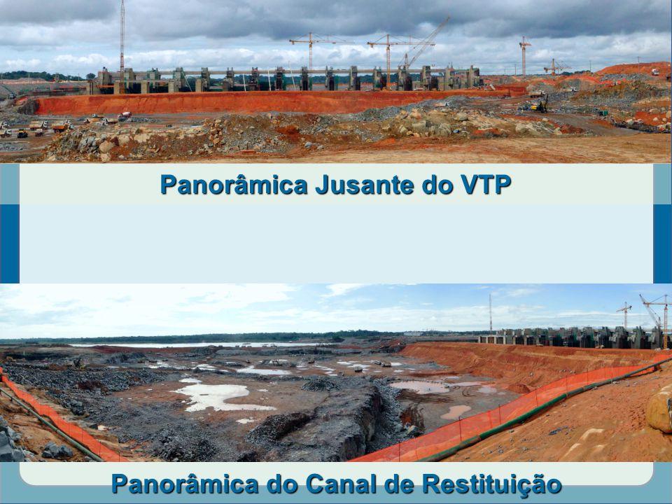 Panorâmica Jusante do VTP Panorâmica do Canal de Restituição