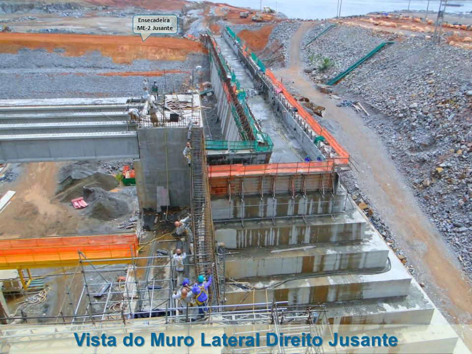Vista do Muro Lateral Direito Jusante