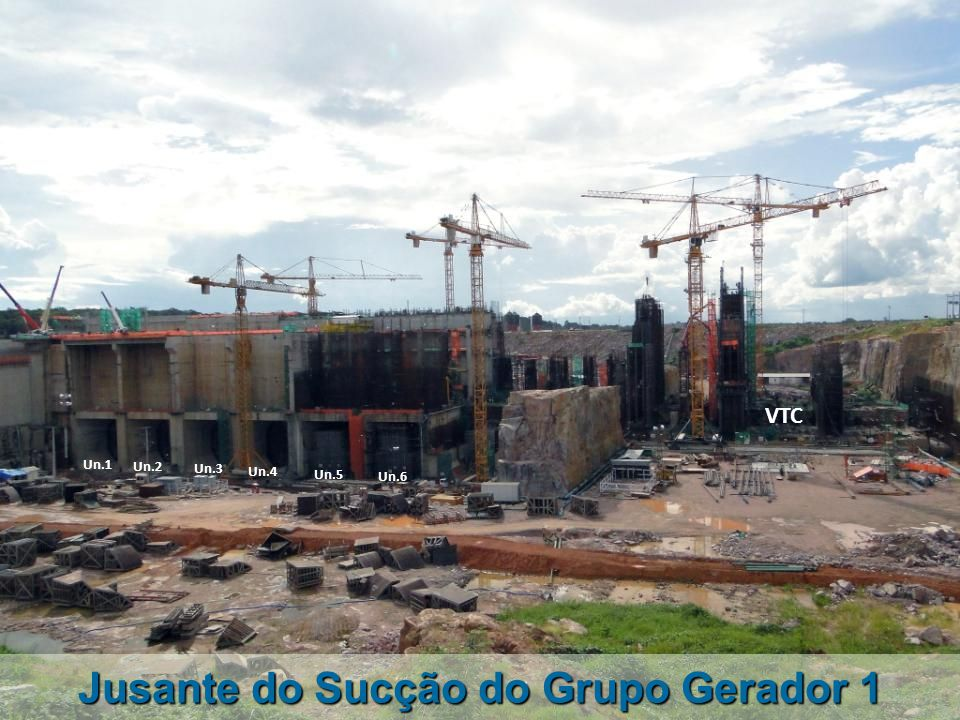 Jusante do Sucção do Grupo Gerador 1