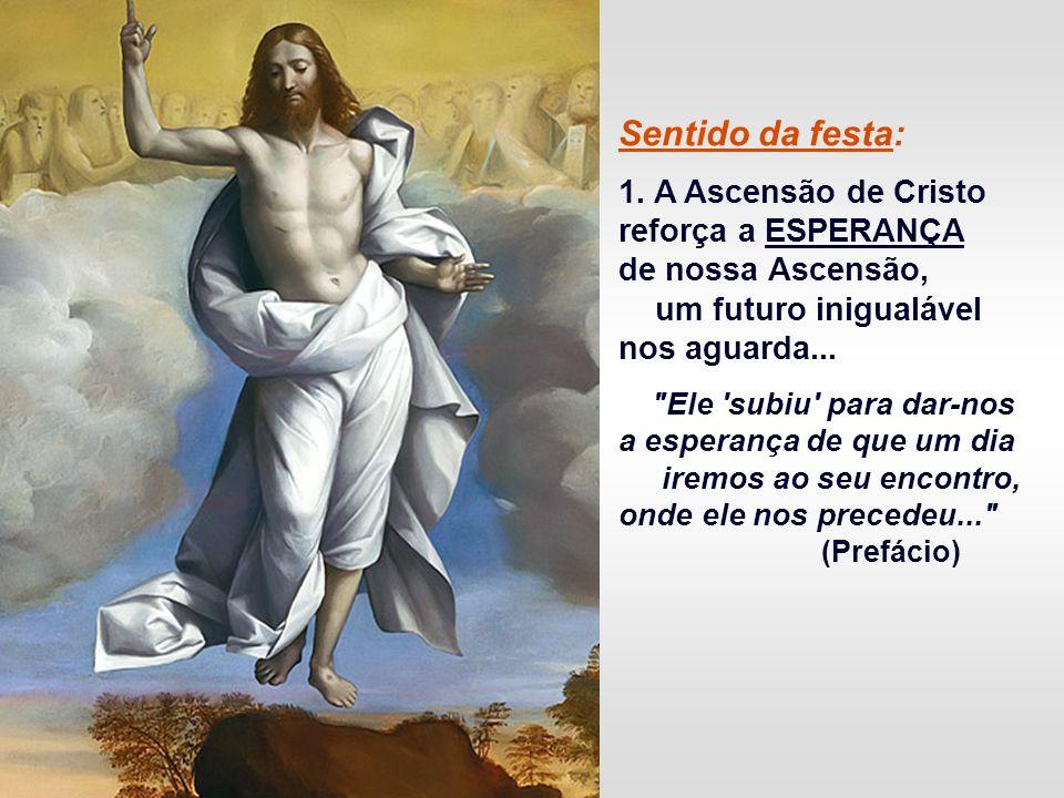 Sentido da festa: 1. A Ascensão de Cristo reforça a ESPERANÇA