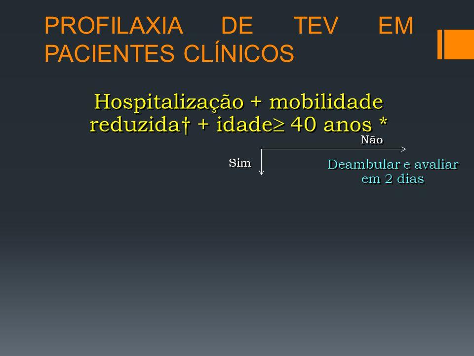 PROFILAXIA DE TEV EM PACIENTES CLÍNICOS