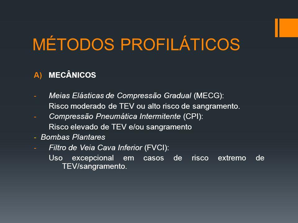 MÉTODOS PROFILÁTICOS MECÂNICOS