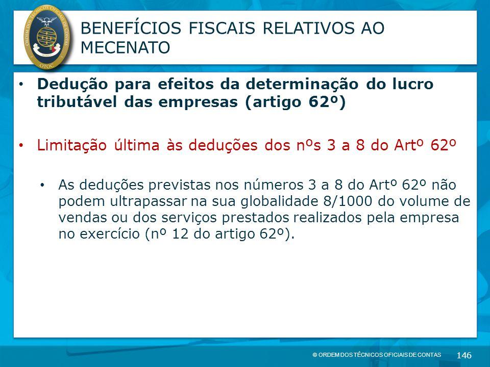 BENEFÍCIOS FISCAIS RELATIVOS AO MECENATO