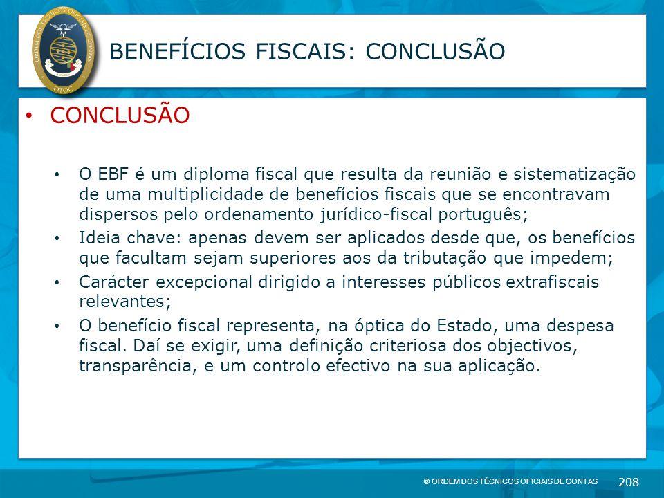 BENEFÍCIOS FISCAIS: CONCLUSÃO