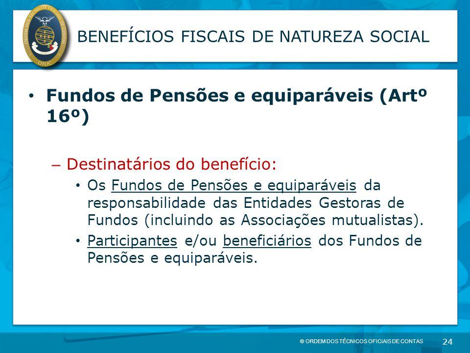 BENEFÍCIOS FISCAIS DE NATUREZA SOCIAL