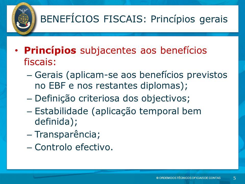 BENEFÍCIOS FISCAIS: Princípios gerais
