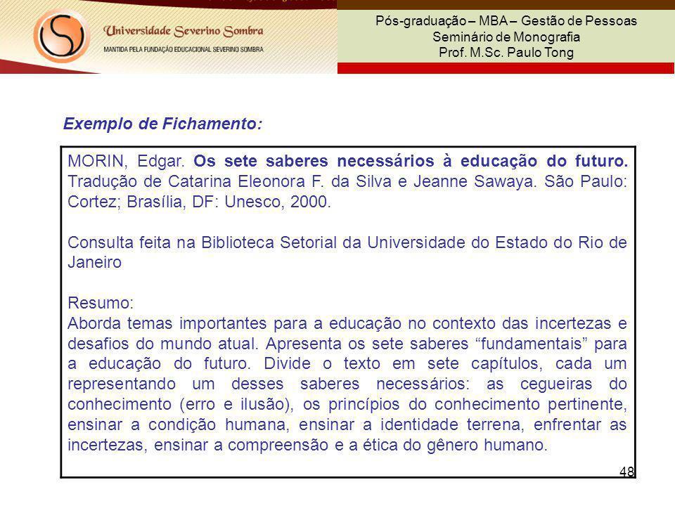 Exemplo de Fichamento: