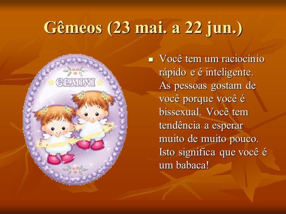 Gêmeos (23 mai. a 22 jun.)