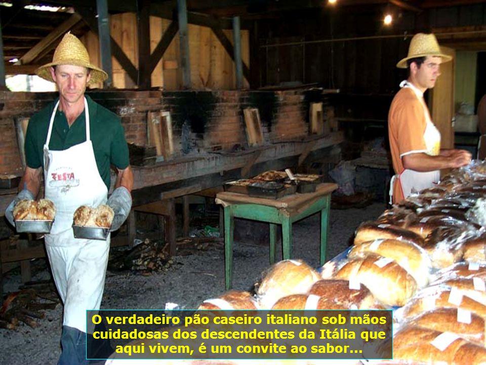 O verdadeiro pão caseiro italiano sob mãos cuidadosas dos descendentes da Itália que aqui vivem, é um convite ao sabor...